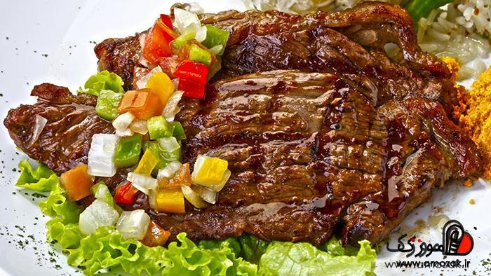 گوشت قرمز تازه و بدون چربیاز خوراکی های خون ساز است