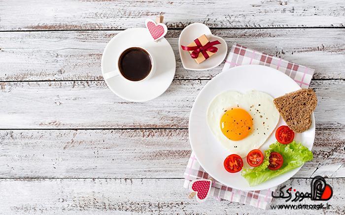 صبحانه سرشار از آهن: تخم مرغ