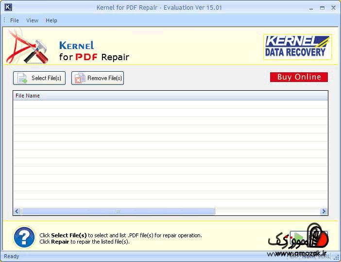 تعمیر فایل پی دی اف خراب با برنامه Kernel for PDF repair
