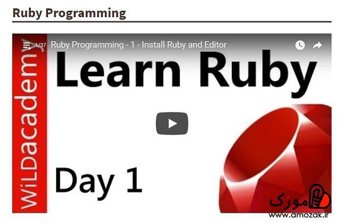 آموزش زبان روبی در برنامه نویسی