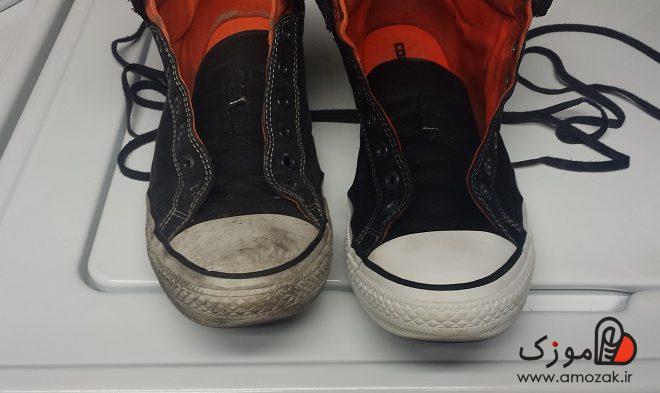 آموزش روش های پاک کردن لکه از کفش
