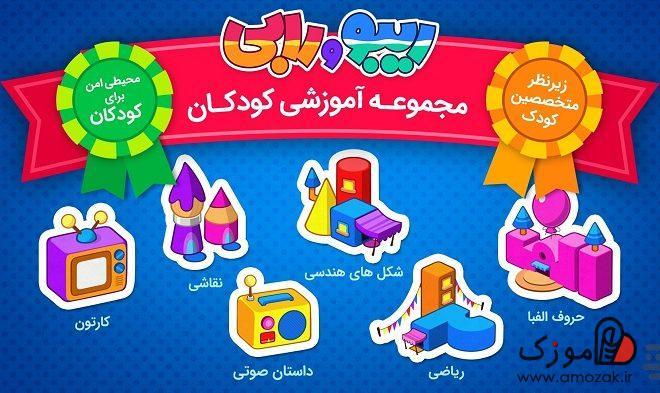آموزش الفبا واعداد به کودکان به کمک نرم افزار