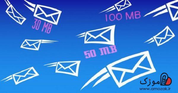 ارسال فایل با حجم بالا در ایمیل یاهو، جیمیل، تلگرام و ...