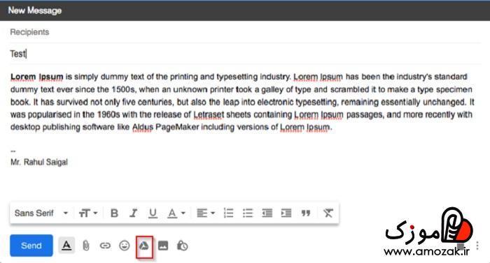 ارسال فایل حجیم با استفاده از جیمیلgmail