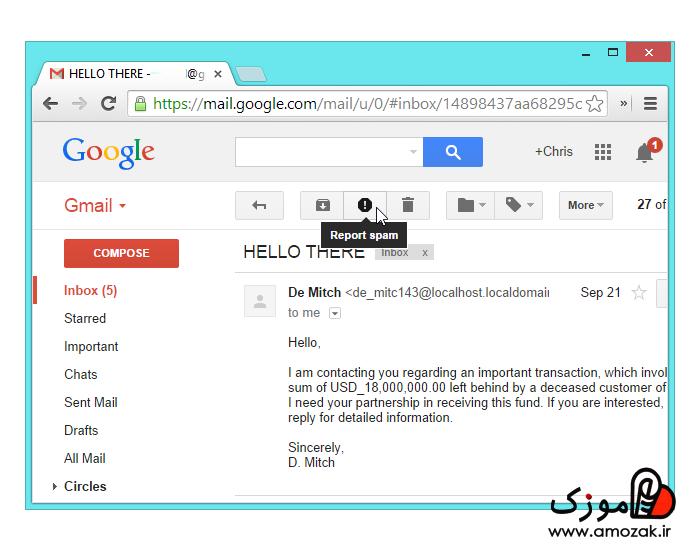 هرزنامه های واقعی و لغو اشتراک دریافت ایمیل از سایت و..